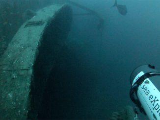 Wrack entdeckt im Roten Meer