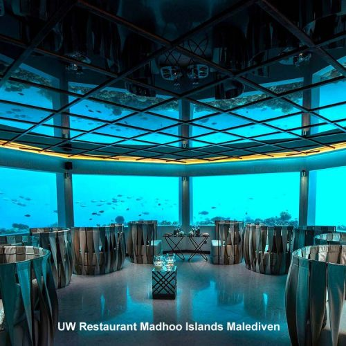Restaurant unter Wasser, Malediven