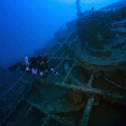 Liegt vor Marsaskala: Die SS Polynesian © D. Gration/University of Malta